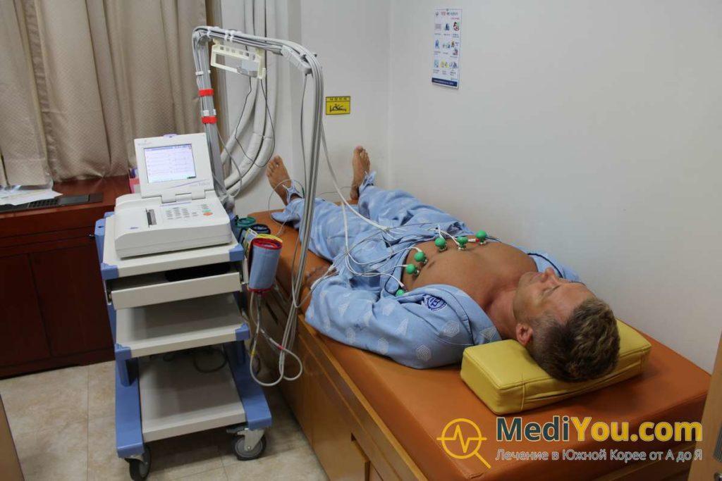 Обследование в Корее - кабинет электрокардиографии