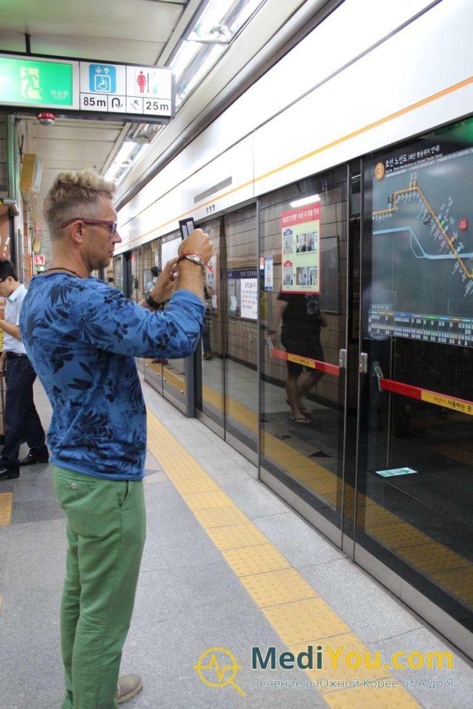 Виктор в метро