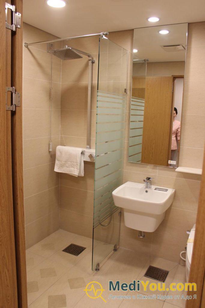 Медицинский центр Ханянг - ВИП палата ванная комната
