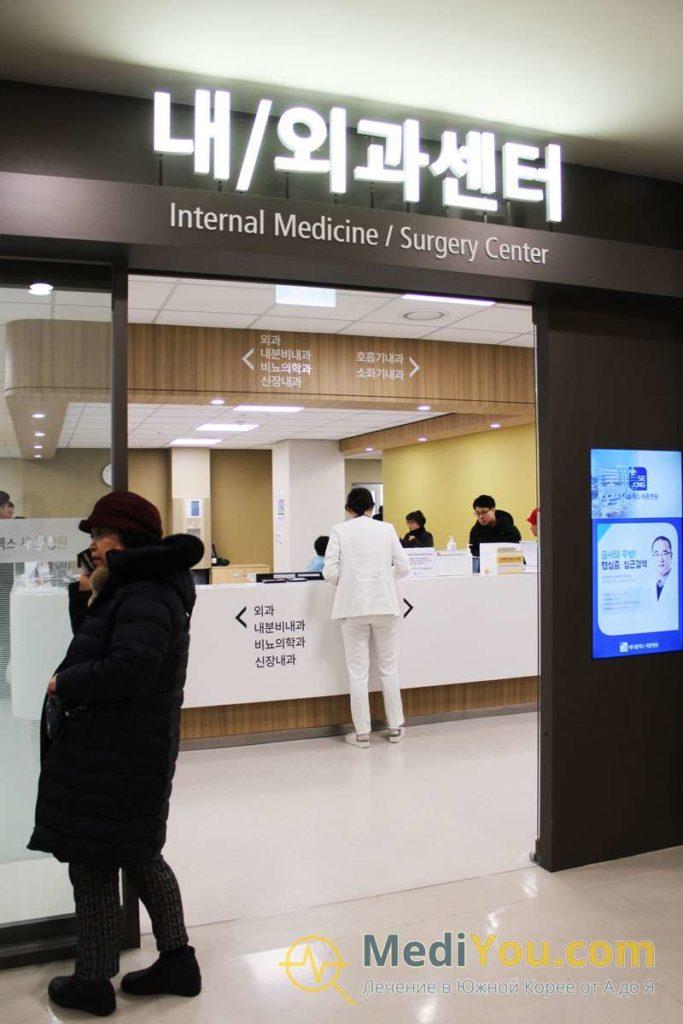 Медиплекс Седжон - отделения в клинике
