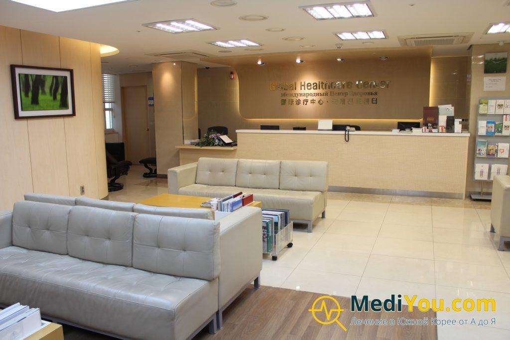 Международный отдел клиники внутри