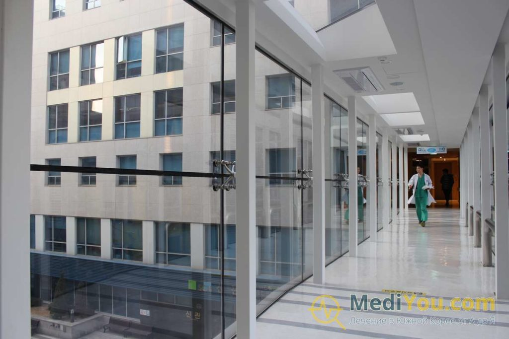 Клиника Сунчонхян - переходы между зданиями
